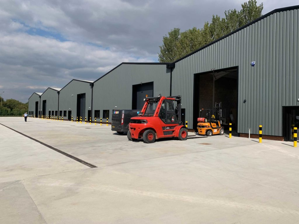 Sherburn in Elmet: 5 units at circa 5000 square foot each, together with associated external works and hardstandings